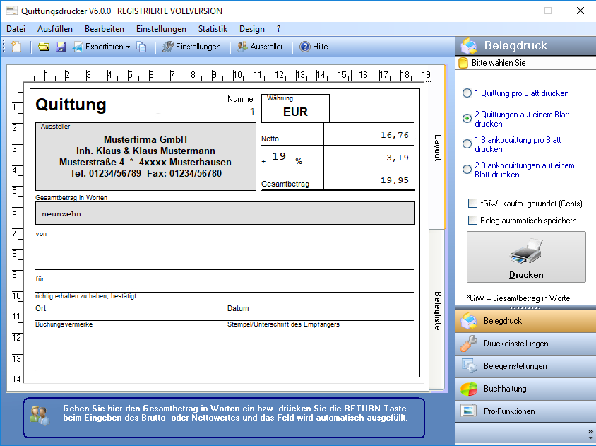 Quittungsdrucker V600 Svo Webdesign Gbr Softwareentwicklung